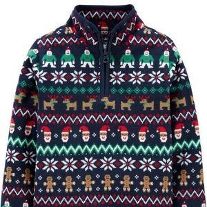 New SANTA CHRISTMAS OshKosh Shirt fleece